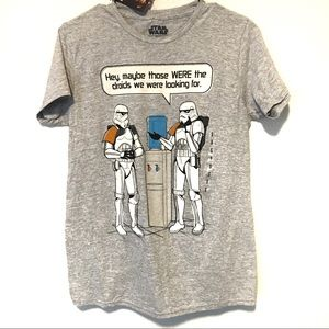 NWT Disney Star Wars graphic Gray shirt Sz Small